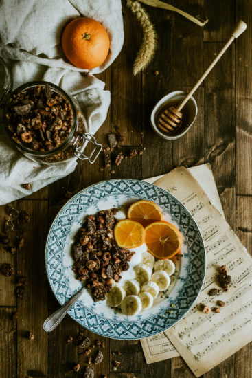 photo culinaire granola chocolat