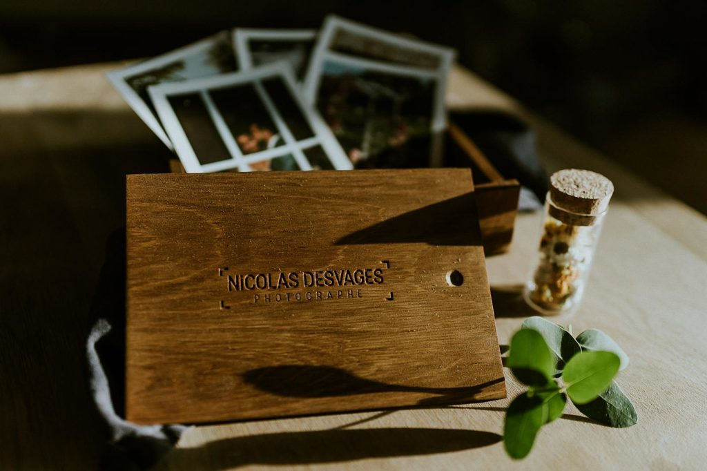 packaging photographe mariage boite bois